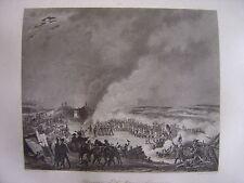 Grande gravure Bivouac armée française Veille de la Bataille d' AUSTERLITZ 1805