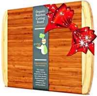 Greener Chef Bamboo Cutting Board - ORGANIC  KING SIZE - LIFETIME REPLACEMENT