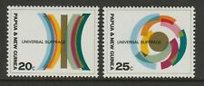 Papua New Guinea 1968 Universal Suffrage pair SG 135-136 Mnh.