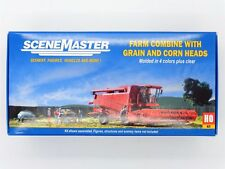 Farm Combine with Grain & Corn Heads HO Kit - Walthers SceneMaster #949-11003