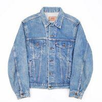 Vintage LEVI'S  Blue USA Cotton Casual Denim Jacket Mens L