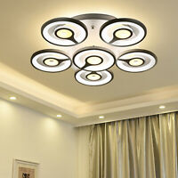 6 Heads Acrylic LED Ceiling Light Pendant Lamp Dimmable Chandelier Fixture 48W
