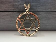9ct Solid Gold Star Of David Pendant