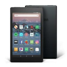 "Amazon Kindle Fire HD8-""New 2018"" 16GB HD Tablet ""Custom Case"" & More-Black-RRAM"