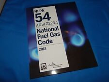 NFPA 54 ANSI Z223.1 National Fuel Gas Code Soft Cover, 2018 Edition