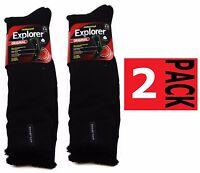 2 X  MENS NEW LONG ORIGINAL HOLEPROOF EXPLORER WOOL BLEND SOCKS THICK HIKING