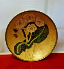 Metal Flower Decorative Metal Bowl from India (#120)