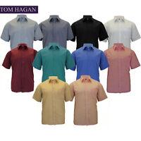 New Mens Collared BIG Tall Casual Plain Short Sleeve Dress SHIRT SHIRTS FORMAL