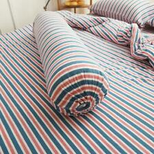 Cotton Pure™ Blue Pink Stripes Knitted Cotton Bolster Case