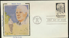 1526 Robert Frost Colorano Silk Cachet USA 1974 FDC LOT A48