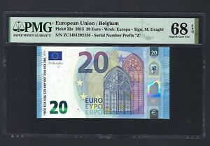 European Union/ Belgium 20 Euro 2015 P22e Uncirculated Grade 68