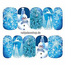 nail art design ongles eau transfert / impression sticker noël hiver stz-406