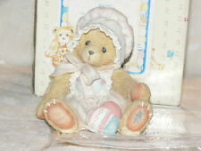 1993 Cherished Teddies Kelly Bear Heart Figurine 916307 Exc Complete Retired