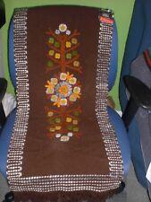 Vintage 1970's Cepelia Polish Handwoven Folk Art Tapestry Original Tags