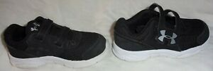 Black Gray UNDER ARMOUR Toddler Boy Kid Size 8K 8 Tennis Athletic Running Shoes