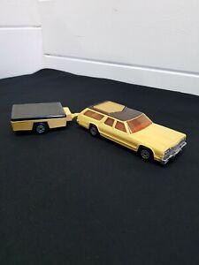 Vintage Matchbox Super Kings 1978 Dodge Monaco Estate With Original Trailer....