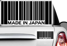 1x Aufkleber Barcode Made in Japan Sticker JDM Oldschool Tuning  Shocker OEM