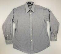 Christian Dior Monsieur Mens Dress Shirt 16-34 White/Blue Striped Long Sleeve