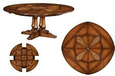 Expandable Round Jupe Dining Table with Self Storing Leaves by Jonathan Charles