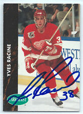 Yves Racine signed 1991-92 Parkhurst card Detroit Red Wings autograph #265