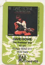 DAVID BOWIE RARO CARD made in ITALY The prettiest star CARD PLASTIFICATA