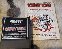 Donkey Kong (Colecovision) W/MANUAL