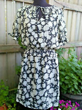 Tory Burch Dress Silk Wool Floral Lined M