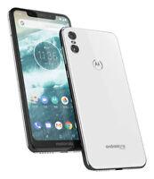 Motorola - Motorola One XT1941-3 64GB GSM Factory Unlocked  white /Dual camera