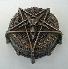 Schmuckkästchen - Pandoras Box Pentagramm mit Widderschädel - Nemesis Now