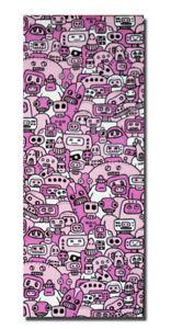 *Robot Mob - Pink - Ltd Edition Canvas - Cute Urban Kidrobot., qee. Graffiti*