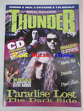 rivista THUNDER 9/1995 Paradise Lost Steve Vai Pearl Jam Deicide Aces High No cd