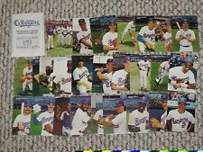 1990 MOTHERS COOKIES TX RANGERS SGA SET TEXAS COMPLETE 28 CARD TEAM ISSUE