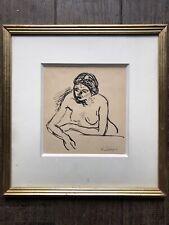 Henri Lebasque Dessin Original Portrait De Femme Nue Impressionnisme Bonnard