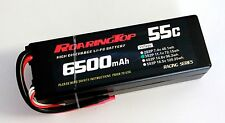 RoaringTop LiPo Battery Pack 55C 6500mAh 3S 11.1V HardCase with Leads Out