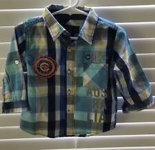 Baby/infant Coogi Long Sleeve Button Down Shirt Size 18M