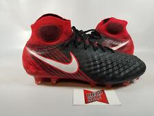 Nike Magista Obra II AC PLAY FIRE BLACK RED 844595-061 10 SOCCER CLEATS BOOTS