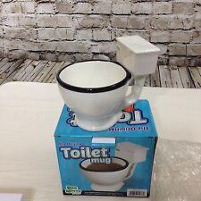 Toilet Bowl Mug Coffee/Tea Cup Ceramic Potty Humor Joke Funny Gag Gift Prank NIB