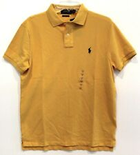 Polo Ralph Lauren Mens Size M Gold Yellow Custom Slim Fit Polo Shirt NWT Size M