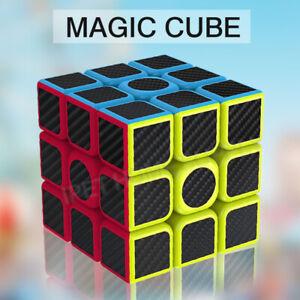3x3x3 Smooth Speed Magic Rubiks Cube Puzzle Easy Twist Carbon Fiber Toys