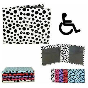 Disable Badge & Timer Parking Permit Holder Fancy Black Polka Dots Case Cover