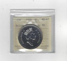 **1998 RCMP**, ICCS Graded Canadian Dollar **MS-67 NBU Silver**