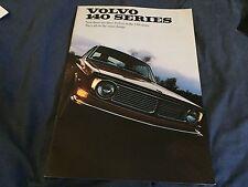 1969 Volvo 140 Series USA Market Color Brochure Catalog Prospekt