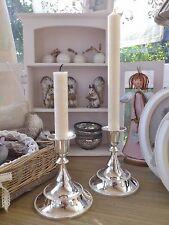 CLAYRE & EEF 2er Set KERZENSTÄNDER silber glänzend Metall Leuchter Kerzenhalter