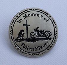 Metal Enamel Pin Badge Brooch Biker Memorial In Memory Death Fallen Bikers