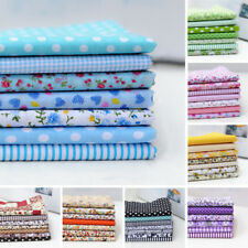 7Pcs 25cm*25cm Assorted Pattern Floral Cotton Fabric Cloth For Sewing DIY Crafts