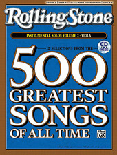 ROLLING STONE-500 GREATEST SONGS OF ALL TIME-VIOLA VOLUME 2 MUSIC BOOK/CD-NEW!!
