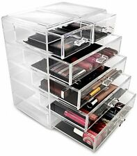 Makeup Jewelry Case Display Storage Clear Acrylic Cosmetics Organizer Big Drawer