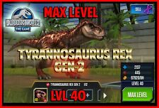 Jurassic WORLD The Game Builder MAX LEVEL T-Rex GEN 2 package Android iOS park
