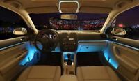 Bluetooth Car Ambient Light LED light Interior Kit Optical fiber Door light NEW