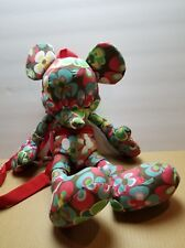 Disneyland Mickey Mouse Floral Plush Stuffed Adjustable Straps Backpack - Nwt